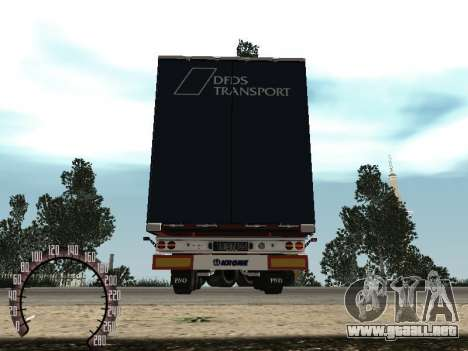 Trailer de Kamaz 54115 para GTA San Andreas vista hacia atrás