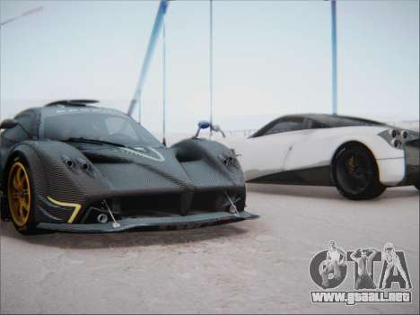 Pagani Zonda R para GTA San Andreas vista hacia atrás