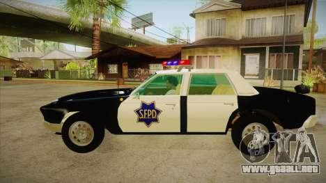 Fasthammer Police SF para GTA San Andreas left