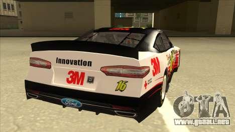 Ford Fusion NASCAR No. 16 3M Bondo para la visión correcta GTA San Andreas