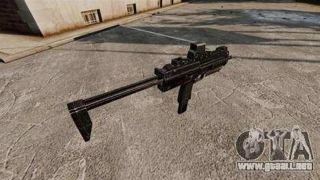 HK MP7 subfusil ametrallador v2 para GTA 4 adelante de pantalla