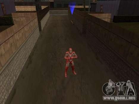 Impacto de iron man en la tierra para GTA San Andreas segunda pantalla