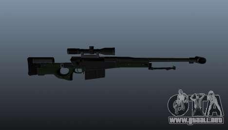 Rifle de francotirador AW50F para GTA 4 tercera pantalla