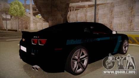 Chevrolet Camaro ZL1 2012 RCPD V1.0 para la visión correcta GTA San Andreas
