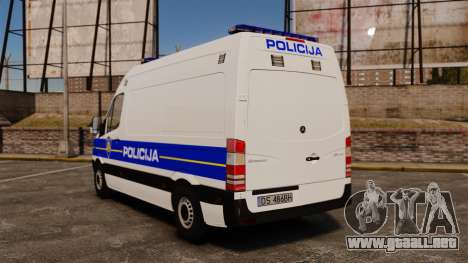 Mercedes-Benz Sprinter Croatian Police v2 [ELS] para GTA 4 Vista posterior izquierda