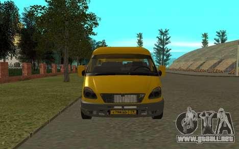 3221 Gacela para GTA San Andreas vista hacia atrás