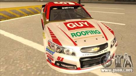 Chevrolet SS NASCAR No. 51 Guy Roofing para GTA San Andreas left