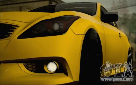 Infiniti G37 IPL para el motor de GTA San Andreas
