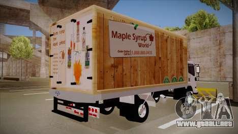 Chevrolet FRR Maple Syrup World para GTA San Andreas vista posterior izquierda