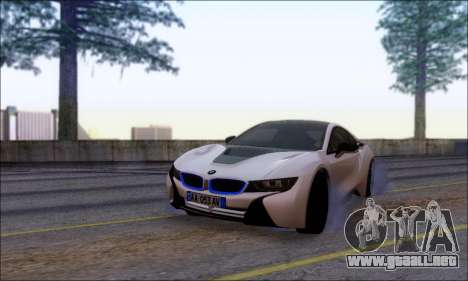 BMW I8 para GTA San Andreas vista hacia atrás