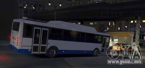 LIAZ 5256.57-01 2013 para GTA 4 Vista posterior izquierda