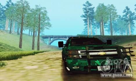 Chevrolet Silverado 3500 Military para GTA San Andreas left