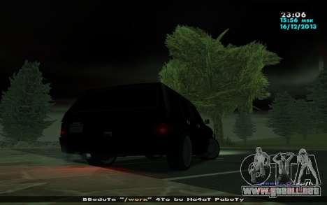 Huntley Mp-bandido para GTA San Andreas vista posterior izquierda