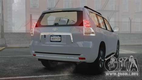Toyota Land Cruiser Prado 150 para GTA 4 Vista posterior izquierda