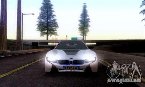 BMW I8 para GTA San Andreas vista posterior izquierda