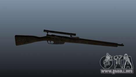 Rifle de francotirador Carcano para GTA 4 tercera pantalla