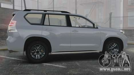 Toyota Land Cruiser Prado 150 para GTA 4 left