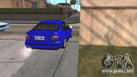 Fiat Marea Sedan para GTA San Andreas vista posterior izquierda