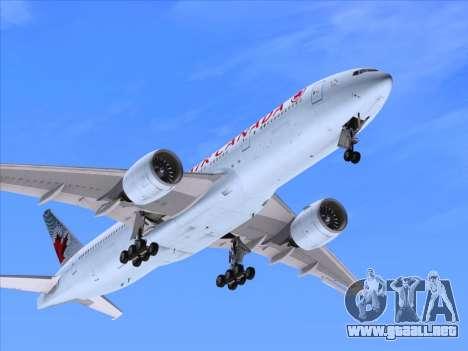 Boeing 777-200ER Air Canada para la vista superior GTA San Andreas