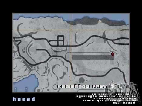 Mapa al estilo de GTA 5 para GTA San Andreas sexta pantalla