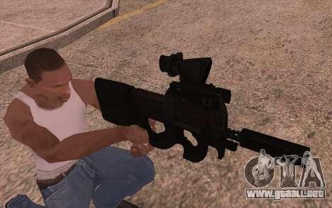P90 AEG con linterna para GTA San Andreas segunda pantalla