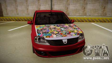 Dacia Logan Hellaflush para GTA San Andreas left
