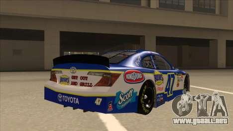 Toyota Camry NASCAR No. 47 Bushs Beans para la visión correcta GTA San Andreas