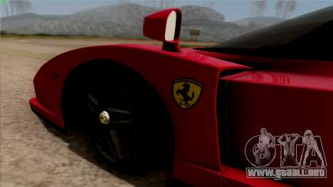 Ferrari Enzo 2002 para GTA San Andreas vista hacia atrás