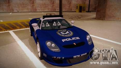 Porsche Carrera GT 2004 Police Blue para GTA San Andreas left