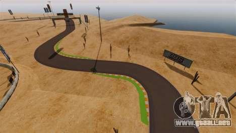 Ubicación DesertDrift ProStreetStyle para GTA 4 adelante de pantalla