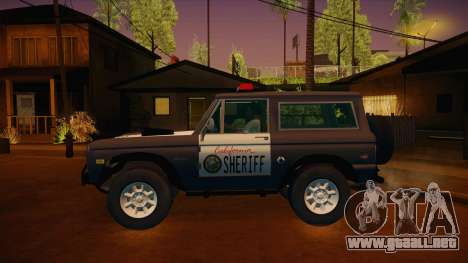 Ford Bronco 1966 Sheriff para GTA San Andreas left