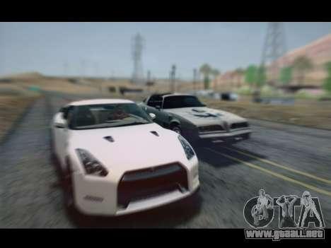 Nissan GT-R Egoist v2 para GTA San Andreas vista posterior izquierda