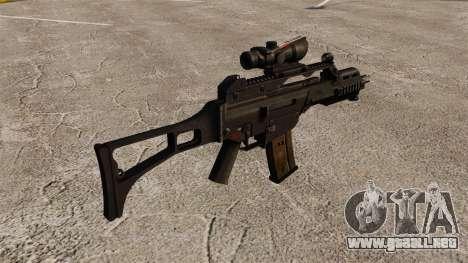 Automático v3 HK G36C para GTA 4 segundos de pantalla