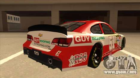 Chevrolet SS NASCAR No. 51 Guy Roofing para la visión correcta GTA San Andreas
