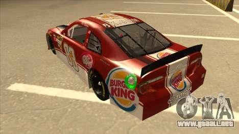 Toyota Camry NASCAR No. 83 Burger King Dr Pepper para GTA San Andreas vista hacia atrás