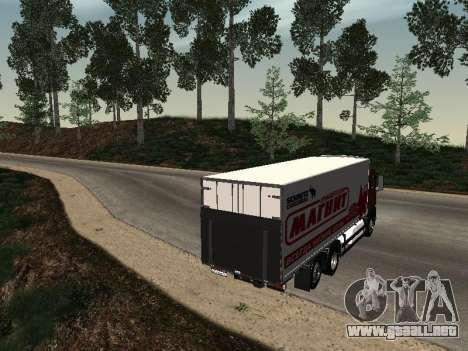 MAN TGA 26350 imán para GTA San Andreas vista posterior izquierda