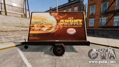 La nueva publicidad sobre ruedas para GTA 4 segundos de pantalla
