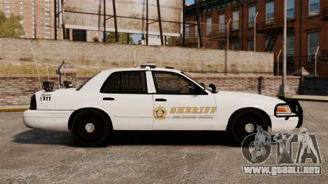 GTA V sheriff car [ELS] para GTA 4 left