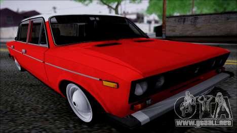 Retro 2106 VAZ para GTA San Andreas vista hacia atrás