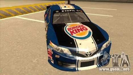 Toyota Camry NASCAR No. 93 Burger King Dr Pepper para GTA San Andreas left