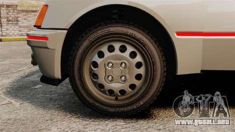 Peugeot 205 Turbo 16 para GTA 4 vista hacia atrás