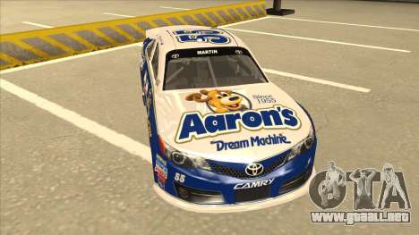 Toyota Camry NASCAR No. 55 Aarons DM blue-white para GTA San Andreas left