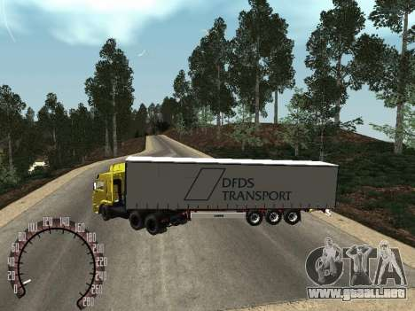 Trailer de Kamaz 54115 para GTA San Andreas vista posterior izquierda