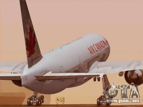 Boeing 777-200ER Air Canada para vista inferior GTA San Andreas