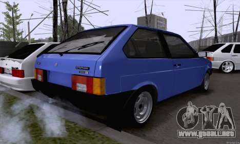 VAZ 2108 roto para GTA San Andreas vista hacia atrás