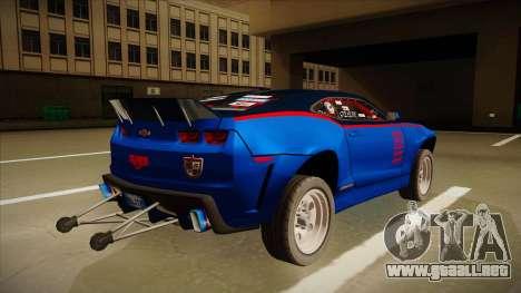 Chevrolet Camaro ZL1 Elite para la visión correcta GTA San Andreas