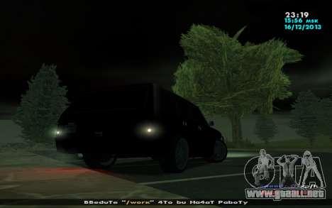 Huntley Mp-bandido para GTA San Andreas vista hacia atrás
