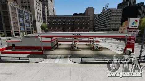 Pertamina GAS STATION para GTA 4 segundos de pantalla