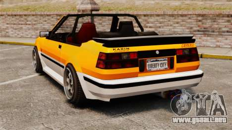 Versión convertible del Futo para GTA 4 Vista posterior izquierda