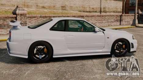 Nissan Skyline R34 GT-R NISMO Z-tune para GTA 4 left